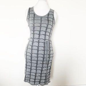 Hugo Boss snakeskin print dress sleeveless, gray